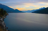 Sunset on Crawford Bay. Kootenay Lake, BC