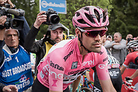 Tom Dumoulin (NED/Sunweb) on his way to the daily podium ceremony<br /> <br /> Stage 17: Tirano &rsaquo; Canaze (219km)<br /> 100th Giro d'Italia 2017