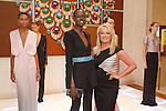 Model Ajak Deng(center) poses with fashion designer Pamella Roland and models during the Pamella Roland Resort 2017 collection fashion presentation at Bvlgari located at 4 West 57 Street in New York City, on June 8, 2018.