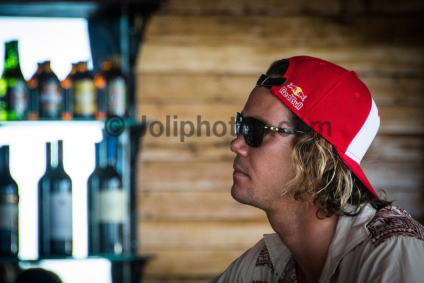 Namotu Island Resort, Namotu, Fiji. (Saturday May 31, 2014) Jordy Smith (ZAF) –  The official Opening Ceremony for the 2014 Fiji Pro was held this afternoon on Tavarua Island with a tradition blessing and kava ceremony for the officials and Top 34 surfers. Photo: joliphotos.com