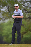 Keegan Bradley (USA) looks over his tee shot on 2 during Round 3 of the Valero Texas Open, AT&T Oaks Course, TPC San Antonio, San Antonio, Texas, USA. 4/21/2018.<br /> Picture: Golffile | Ken Murray<br /> <br /> <br /> All photo usage must carry mandatory copyright credit (© Golffile | Ken Murray)