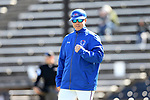 WINSTON-SALEM, NC - MARCH 04: UMass Lowell head coach Ken Harring. The Wake Forest University Demon Deacons hosted the UMass Lowell River Hawks on March 4, 2018, at David F. Couch Ballpark in Winston-Salem, NC in a Division I College Baseball game. Wake Forest won the game 14-7.