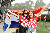 8th January 2020; Sydney Olympic Park Tennis Centre, Sydney, New South Wales, Australia; ATP Cup Australia, Sydney, Day 6; Croatia versus Argentina; Croatian fans pose for a photo before the match  - Editorial Use