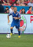 03 July 2013: Montreal Impact forward Marco Di Vaio #9 in action during an MLS game between the Montreal Impact and Toronto FC at BMO Field in Toronto, Ontario Canada.<br /> The game ended in a 3-3 draw.