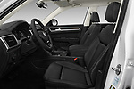 Front seat view of 2018 Volkswagen Atlas SEL 5 Door SUV front seat car photos