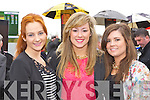 Kelly Ann McSweeney, Amanda Brosnan and Anne Lucey Killarney looking for winners at the Killarney Races on Sunday