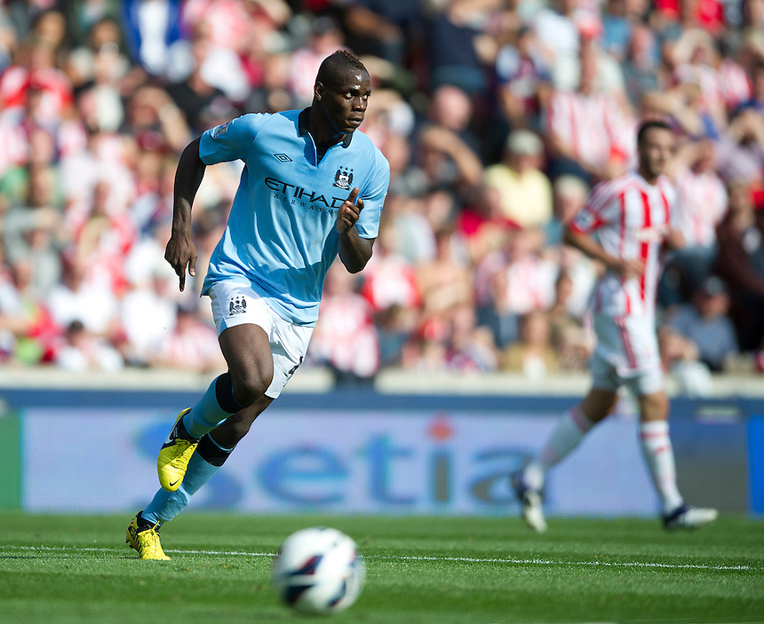 Manchester City's Mario Balotelli ..Football - Barclays Premiership - Stoke City v Manchester City - Saturday 15th September 2012 - Britannia Stadium - Stoke..