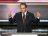 United States Representative Chris Collins (Republican of New York) seconds the nomination of Donald Trump as the GOP nominee for President of the United States at the 2016 Republican National Convention held at the Quicken Loans Arena in Cleveland, Ohio on Tuesday, July 19, 2016.<br /> Credit: Ron Sachs / CNP<br /> (RESTRICTION: NO New York or New Jersey Newspapers or newspapers within a 75 mile radius of New York City)