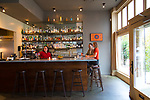 The bar at Cafe Castagna, a restaurant in Southeast Portland, OR