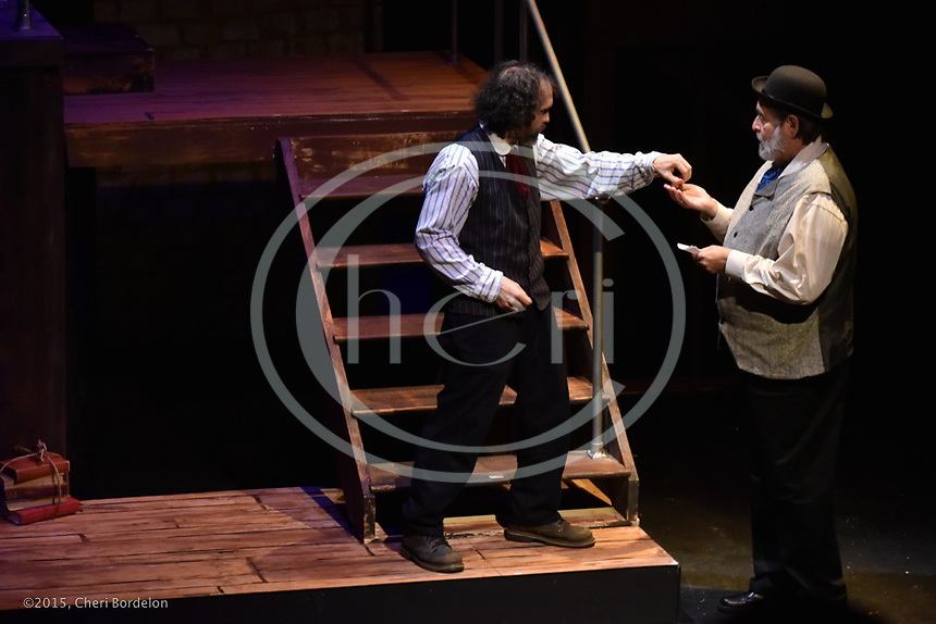 Glens Falls Community Theater presents &quot;Sweeney Todd&quot; directed by Avery Clark-Babson and Mark Collier at the Wood Theater on November 6-8 and 13-15, 2015.<br /> <br /> Returning after 15 years of grievously unjust imprisonment, and calling himself Sweeney Todd, the now-mad barber vows revenge, applying his razor to unlucky customers and shuttling the bodies down to clever Mrs. Lovett who uses them in her meat-pie shop. Though many unsavory characters fall to his blade, he will not be satisfied until he eliminates Turpin, the man who robbed him of his wife and daughter. This Sondheim operatic classic is darkly intriguing with a twist ending reminiscent of Greek tragedy.<br /> Music and lyrics by Stephen Sondheim. Book by Hugh Wheeler.<br /> &ldquo;Sweeney Todd&rdquo; opened on Broadway in 1979. It won the Tony Award for Best Musical and Olivier Award for Best New Musical.