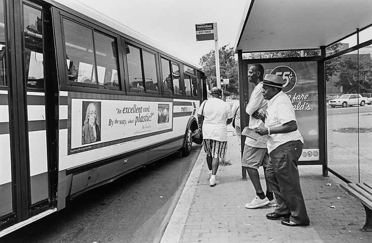 Bus Stop at Park Avenue, 8th street, south east in July 1997. (Photo by Maureen Keating/CQ Roll Call via Getty Images)