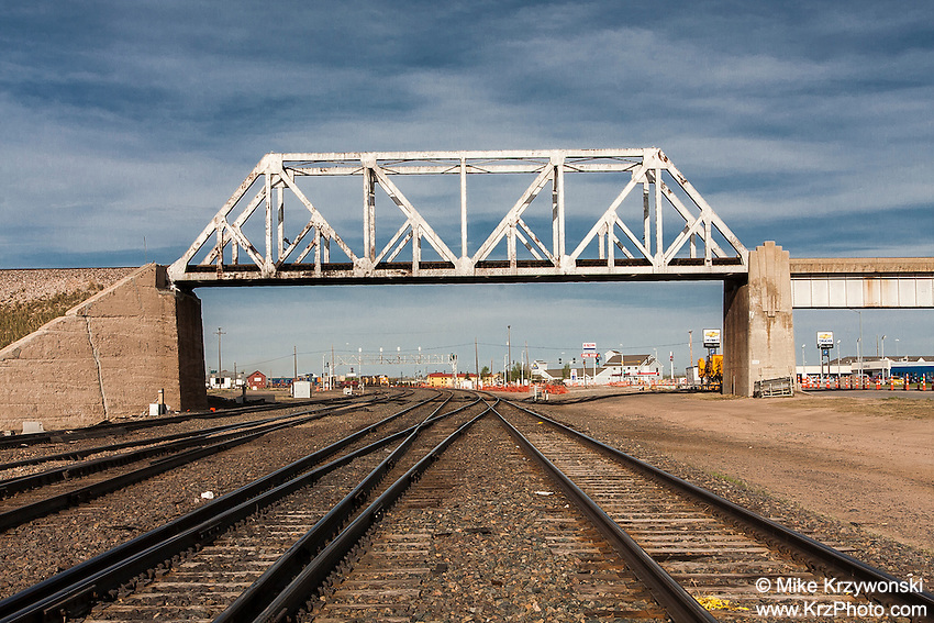 Railroad Bridge above tracks in Cheyenne, WY