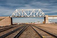 Railroad Bridge above tracks in Cheyenne, WY