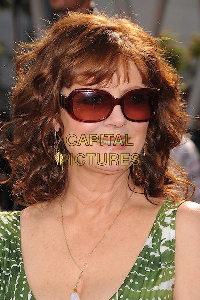 "SUSAN SARANDON .""Speed Racer"" Los Angeles Premiere at the Nokia Theatre, Los Angeles, California, USA, 26 April 2008..portrait headshot sunglasses gold earrings necklace .CAP/ADM/BP.©Byron Purvis/Admedia/Capital PIctures"