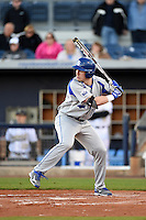 Indiana State Sycamores infielder Dane Giesler (13) at bat during a game against the Vanderbilt Commodores on February 20, 2015 at Charlotte Sports Park in Port Charlotte, Florida.  Vanderbilt defeated Indiana State 3-2.  (Mike Janes/Four Seam Images)