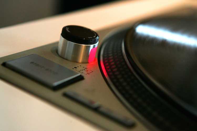 February 19, 2008; Santa Cruz, CA, USA; A detailed view of a vinyl record playing on a turntable in Santa Cruz, CA. Photo by: Phillip Carter