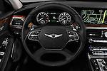 Car pictures of steering wheel view of a 2017 Genesis G90 Ultimate 4 Door Sedan Steering Wheel