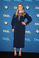 BEVERLY HILLS, CA - FEBRUARY 3: Amy Schumer   in the press room at the 70th Annual Directors Guild of America Awards (DGA, DGAs),  at The Beverly Hilton Hotel in Beverly Hills, California on February 3, 2018.  <br /> CAP/MPI/FS<br /> &copy;FS/Capital Pictures
