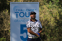 Joel Sjoholm (SWE) on the 5th tee during Round 1 of the Challenge Tour Grand Final 2019 at Club de Golf Alcanada, Port d'Alcúdia, Mallorca, Spain on Thursday 7th November 2019.<br /> Picture:  Thos Caffrey / Golffile<br /> <br /> All photo usage must carry mandatory copyright credit (© Golffile | Thos Caffrey)