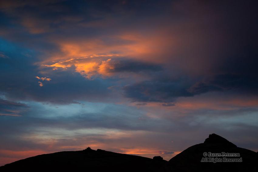 Sunset Sky over Escalante Canyon, Utah