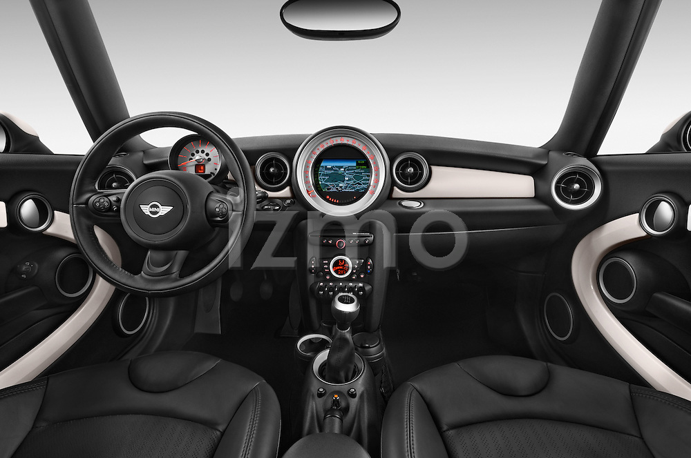 Stock photo of straight dashboard view of a 2014 MINI MINI COOPER CLUBVAN 5 Door Wagon 2WD Dashboard
