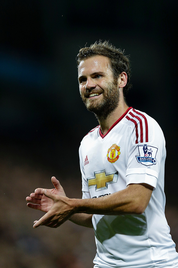 Manchester United's Juan Mata during tonight's match<br /> <br /> Photographer Craig Mercer/CameraSport<br /> <br /> Football - Barclays Premiership - Aston Villa v Manchester United - Friday 14th August 2015 - Villa Park - Birmingham<br /> <br /> &copy; CameraSport - 43 Linden Ave. Countesthorpe. Leicester. England. LE8 5PG - Tel: +44 (0) 116 277 4147 - admin@camerasport.com - www.camerasport.com