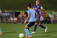 Piscataway, NJ - Wednesday Sept. 07, 2016: Raquel Rodriguez, Alex Morgan during a regular season National Women's Soccer League (NWSL) match between Sky Blue FC and the Orlando Pride FC at Yurcak Field.