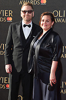Sir Kenneth Branagh &amp; Lindsay Brunnock at The Olivier Awards 2017 at the Royal Albert Hall, London, UK. <br /> 09 April  2017<br /> Picture: Steve Vas/Featureflash/SilverHub 0208 004 5359 sales@silverhubmedia.com