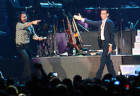 MIAMI, FL - AUGUST 3, 2012: Marco Anotnio Solis and Marc Anthony during the Gigant3s concert featuring, Marc Anthony, Chayanne and Marco Anotonio Solis at the American Airlines Arena in Miam, Florida. August 3, 2012. © Majo Grossi/MediaPunch Inc. /NortePhoto.com<br />