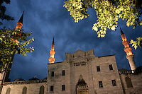 Suleymaniye Mosque at dusk, Istanbul