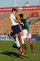 Callum Connolly of England U21's heads the ball into the Mexico goalmouth during Mexico Under-21 vs England Under-21, Tournoi Maurice Revello Final Football at Stade Francis Turcan on 9th June 2018