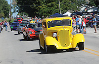 NWA Democrat-Gazette/FLIP PUTTHOFF <br /> CENTERTON DAY PARADE<br /> Classic cars move along the parade route during the Centerton Day parade, part of the annual Centerton Day in downtown Centerton. Centerton Day featured the parade, tiny tot pageant, live music, auction and a fishing derby.