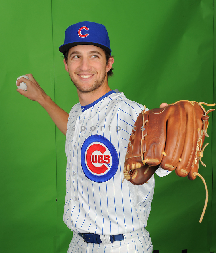 Chicago Cubs Corey Black (82) during photo day on March 2, 2015 in Mesa, AZ.