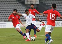 Marcus Tavernier of Middlesbrough and England takes a shot at the Chile goal during Chile Under-21 vs England Under-20, Tournoi Maurice Revello Football at Stade Parsemain on 7th June 2019