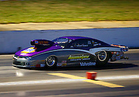May 16, 2014; Commerce, GA, USA; NHRA pro stock driver Vincent Nobile during qualifying for the Southern Nationals at Atlanta Dragway. Mandatory Credit: Mark J. Rebilas-USA TODAY Sports