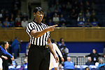 22 November 2015: Referee Carla Fountain. The Duke University Blue Devils hosted the United States Military Academy at West Point Army Black Knights at Cameron Indoor Stadium in Durham, North Carolina in a 2015-16 NCAA Women's Basketball Exhibition game. Duke won the game 72-61.