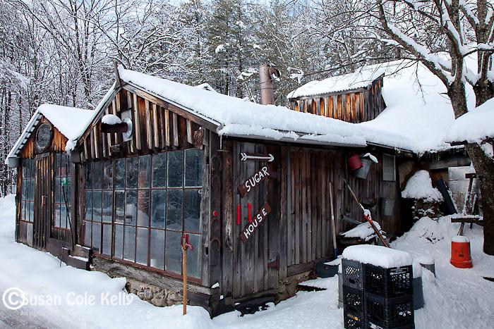 The sugar house at Parker's Maple Barn in Mason, NH, USA