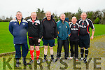 l-r  Jim McCarthy, Mike Fox O'Connor, James O'Sullivan, Francie Boyle, Joe Hanley and Seamie O'Mahony at the Joe Flynn Tralee Dynamos Legend Game in aid of  Kerry/Cork Link Bus on Sunday at Cahermoneen