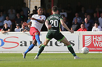Angelo Balanta of Dagenham and Redbridge with a shot during Dagenham & Redbridge vs Hartlepool United, Vanarama National League Football at the Chigwell Construction Stadium on 14th September 2019