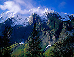 North Cascades National Park, WA<br /> <br /> Morning light on snow covered peaks of Johannesburg Mountain at Cascade Pass