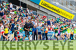 half time during the All Ireland Senior Football Semi Final between Kerry and Tyrone at Croke Park, Dublin on Sunday.
