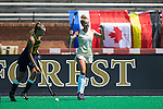 Emily Adamson (9) of the Wake Forest Demon Deacons celebrates as time runs out in their win over the Michigan Wolverines at Kentner Stadium on August 28, 2016 in Winston-Salem, North Carolina.  The Demon Deacons defeated the Wolverines 2-0.  (Brian Westerholt/Sports On Film)