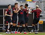 Torjubel: Ruben Vargas (FCA), Florian Niederlechner (FCA), Marco Richter (FCA), Noah Sarenren Bazee (FCA), Philipp Max (FCA)<br /><br /><br />20.06.2020, Fussball, 1. Bundesliga, Saison 2019 / 2020<br />33.Spieltag, Fortuna Duesseldorf : FC Augsburg<br /><br />Foto : NORBERT SCHMIDT/POOL/ via Meuter/nordphoto<br /><br />Nur für journalistische Zwecke ! Only for editorial use .
