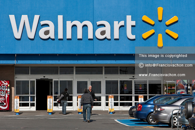 A Walmart store is pictured in Quebec city Wednesday October 19, 2011. Wal-Mart Stores, Inc. (NYSE: WMT), branded as Walmart since 2008 and Wal-Mart before then, is an American public multinational corporation that runs chains of large discount department stores and warehouse stores.