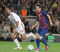 3.04.2012 Barcelona, Spain. UEFA Champions League , Quarter finals 2nd leg,       picture show  Leo Messi in action  during match between FC Barcelona against AC MIlan AT Camp Nou