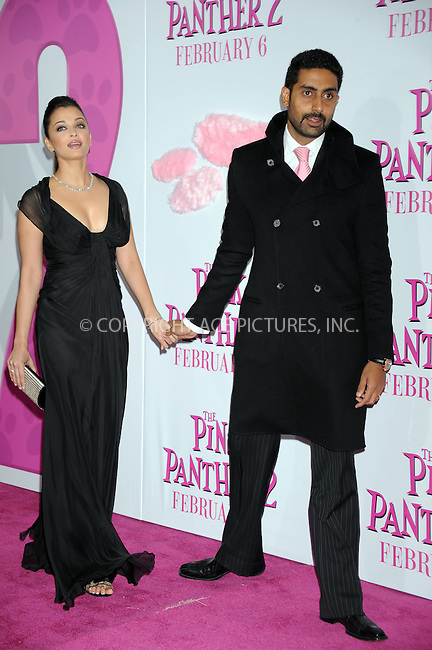 WWW.ACEPIXS.COM . . . . . ....February 3 2009, New York City....Actress Aishwarya Rai Bachchan and guest arriving at the premiere of 'The Pink Panther 2' at the Ziegfeld Theatre on February 3, 2009 in New York City.....Please byline: KRISTIN CALLAHAN - ACEPIXS.COM.. . . . . . ..Ace Pictures, Inc:  ..tel: (212) 243 8787 or (646) 769 0430..e-mail: info@acepixs.com..web: http://www.acepixs.com