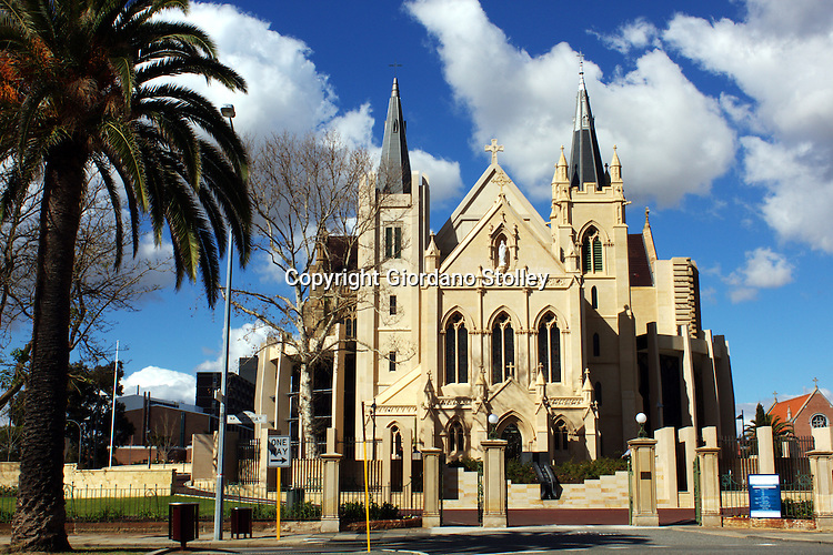 PERTH - 31 July 2010 - St Mary's Cathedral is the cathedral church of the Roman Catholic Archdiocese of Perth. Officially the Cathedral of the Immaculate Conception of the Blessed Virgin Mary, the cathedral is located at the peak of a hill in East Perth, at the centre of Victoria Square in Perth. Constructed 1865, it has since been modified several times with expansion completed in December 2009..Picture: Giordano Stolley/Allied PIcture Press