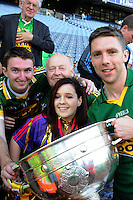 Marc O'Se celebrates with Tom O'Donoghue from Castleisland  after winning the All-Ireland Football Final against Donegal in Croke Park 2014.<br /> Photo: Don MacMonagle<br /> <br /> <br /> Photo: Don MacMonagle <br /> e: info@macmonagle.com