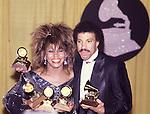 Tina Turner 1985 Grammy Awards with Lionel Richie..