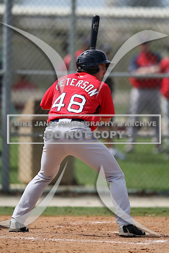 March 18, 2010:  Bryan Peterson (48) of the Boston Red Sox organization during Spring Training at Ft.  Myers Training Complex in Fort Myers, FL.  Photo By Mike Janes/Four Seam Images